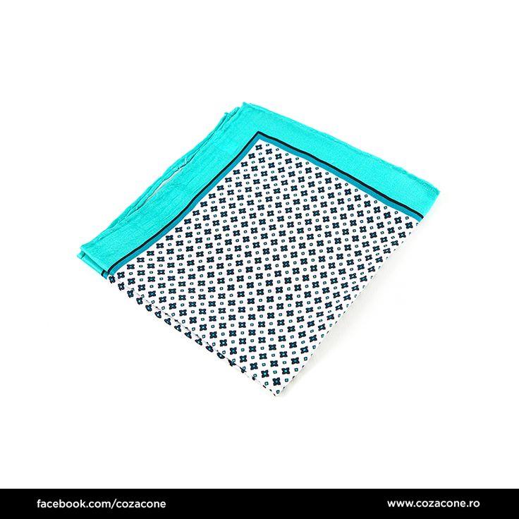 O batistă de buzunar în culori fresh, pentru ținute relaxate: http://www.cozacone.ro/produse/detalii/batista-alb-albastru/