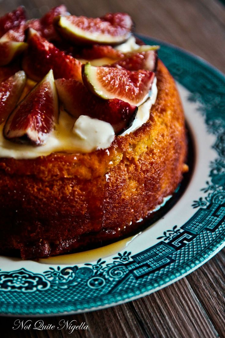 Fig and Yoghurt Almond Cake (Gluten Free)