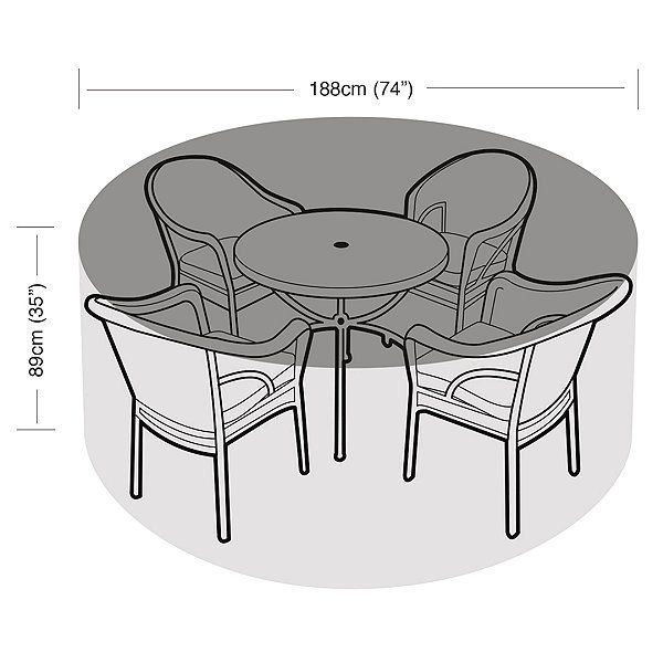 4-6 Seater Round All Weather Garden Furniture Cover | 1000 In 2020 | Metal Garden Furniture, Garden Furniture Covers, Furniture Covers