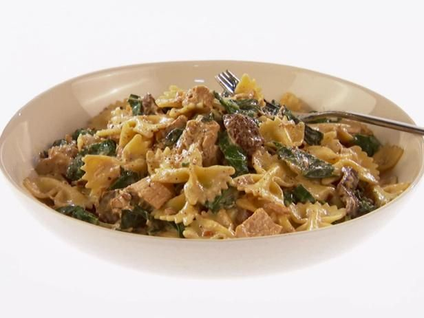 farfalle abruzzese with veal porcini and spinach farfalle abruzzese ...