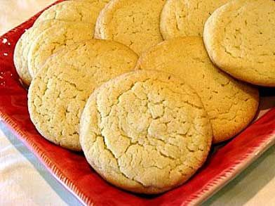 Amish Sugar Cookies: granulated white sugar, powdered sugar, salted butter, canola oil, large eggs, vanilla extract, all-purpose flour, baking powder, baking soda, cream of tartar