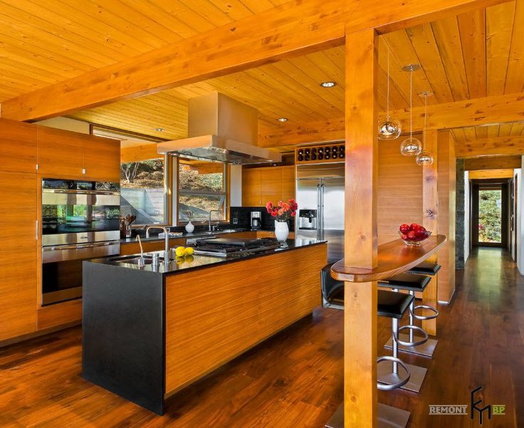 A Glamorous Kitchen Hallway With Wood Veneer Floooring And Kitchen Cabinet  Also Cute Mini Bar With Part 14