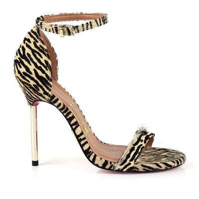 Sandália Salto Alto Zebra