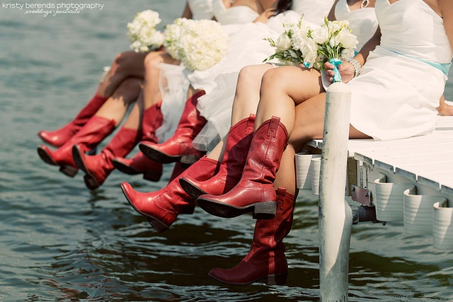 Cowboy boots at wedding by Kristy Berends, via Flickr