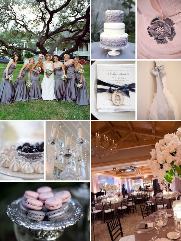 Silver, grey and white wedding inspiration.