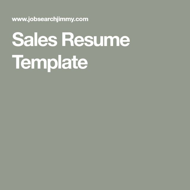 The  Best Sales Resume Ideas On   Business