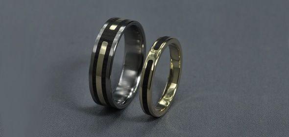 Panny – Titán, Arany, Ébenfa – Jegygyűrű, Karikagyűrű