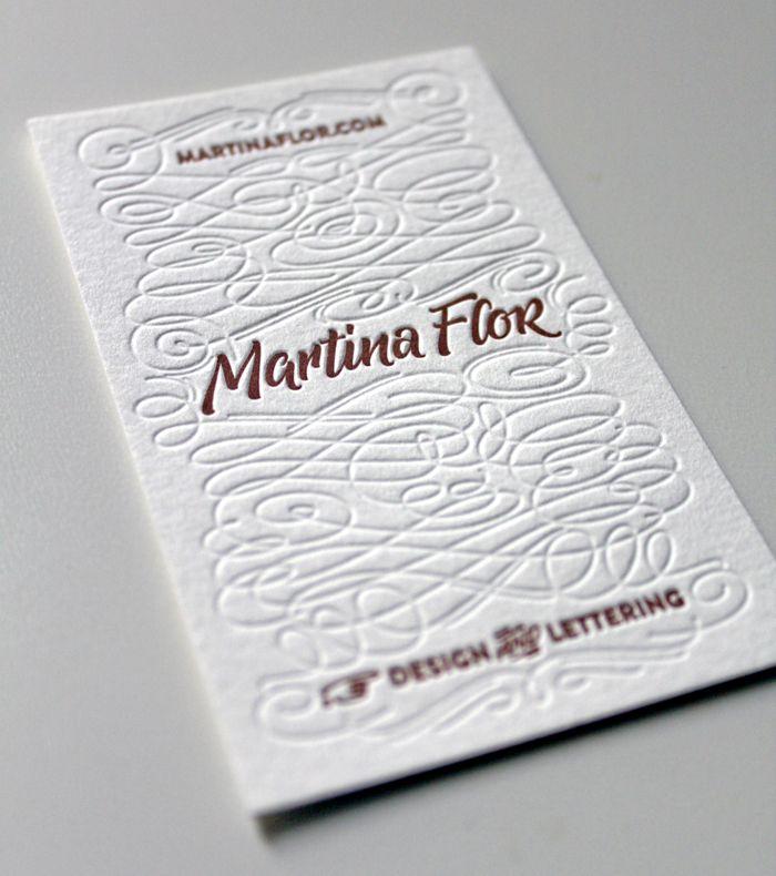 My new business cards by Martina Flor via martinaflor.com