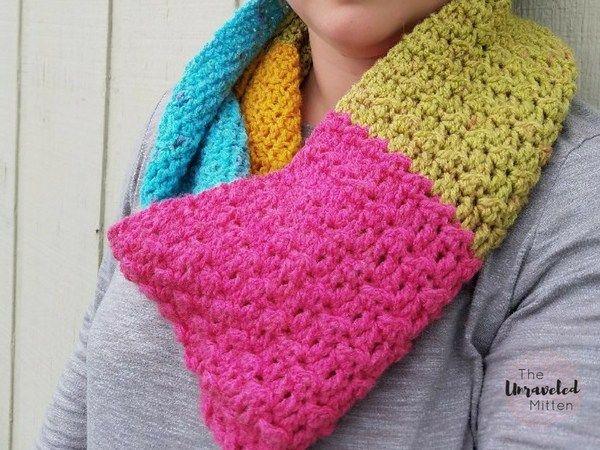 Mejores 604 imágenes de Crochet-cowls and scarves en Pinterest ...