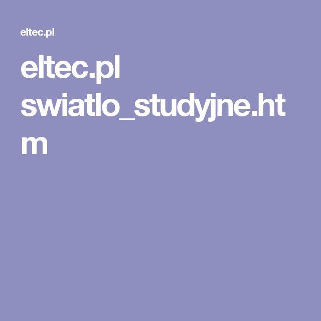 eltec.pl swiatlo_studyjne.htm