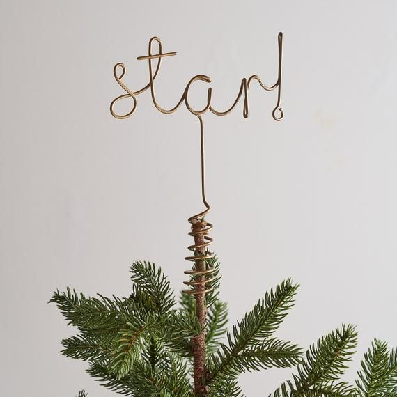 Hey I Found This Really Awesome Etsy Listing At Https Www Etsy Com Ca Listing 483808608 Wire Star W Tree Toppers Christmas Tree Star Topper Star Tree Topper
