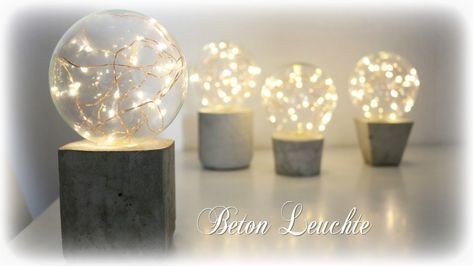 Beton Leuchte mit LED Lichterkette * DIY * Concret…