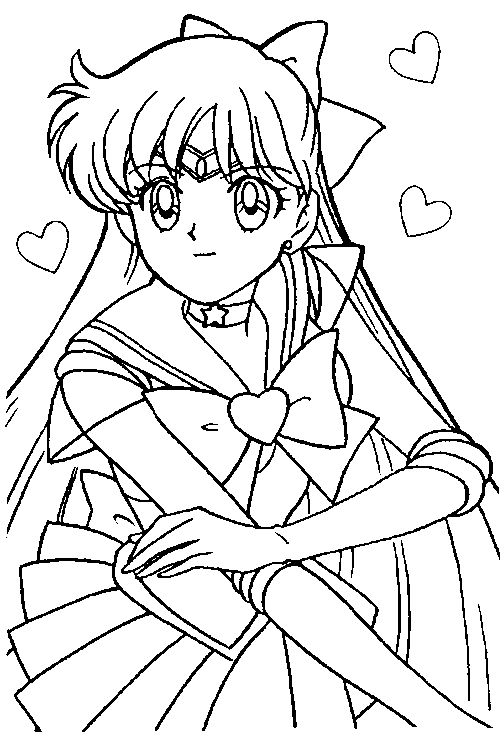 406 best sailor moon coloring sheets images on Pinterest Coloring