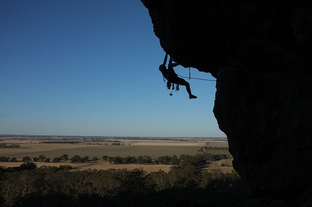 Mt Arapiles Australia one of the best rock climbing holiday destinations flickr image by Simon Li