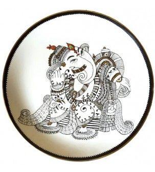 Ganesha Porcelain Plate