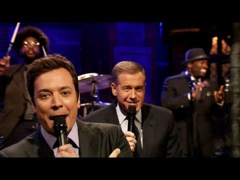 Jimmy Fallon and Brian Williams slow jam the news and they've got us swooning.