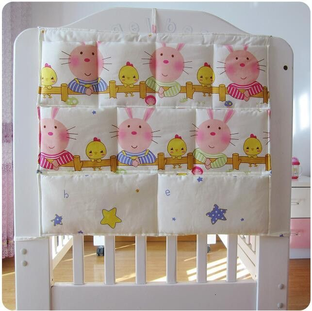 New New Baby Bed Storage Hanging Bag Diaper Pockets For Baby Crib Bedding Set