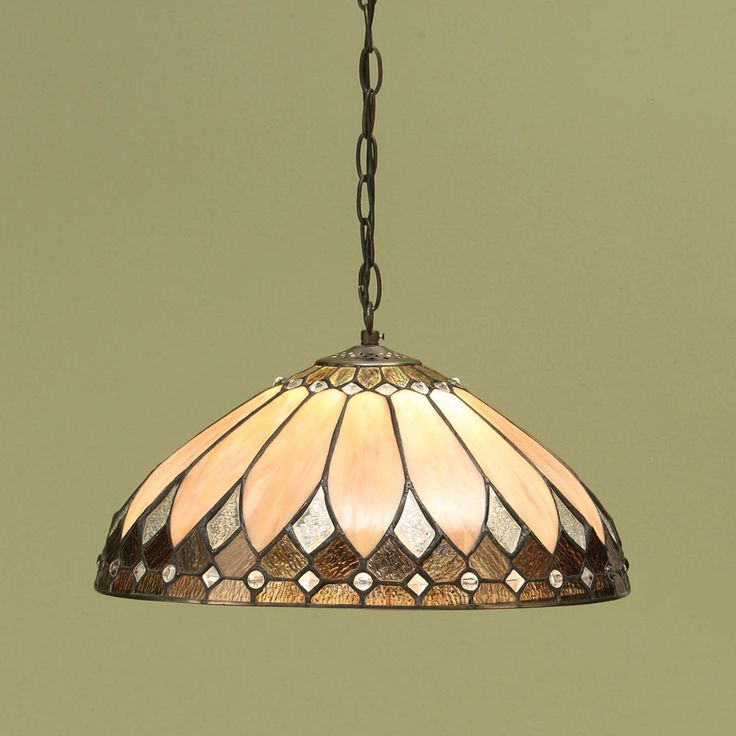 Interiors 1900 63977 Brooklyn 1 Light Tiffany Pendant