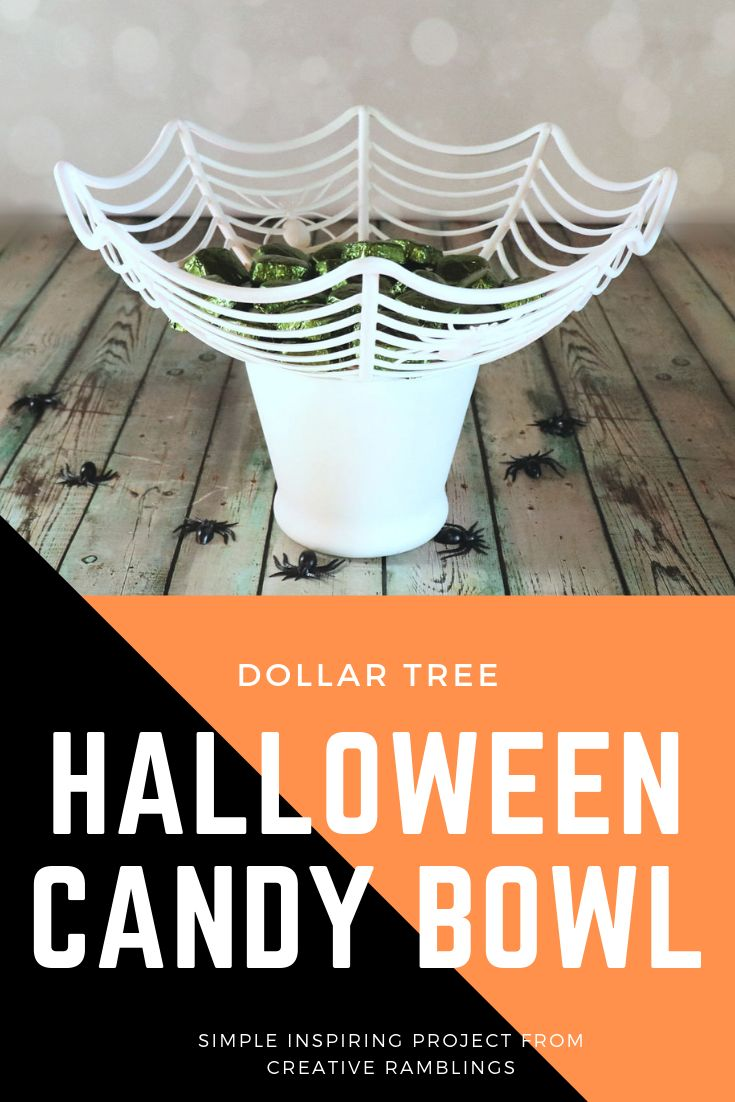 Dollar Store Halloween Candy Bowl