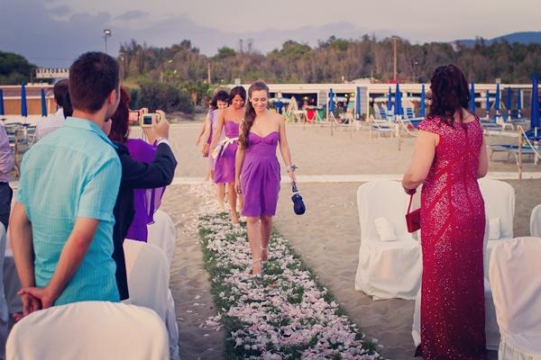 подружки невесты в фиолетовых платьях #wedding #purple