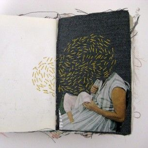 Digging this. Combining the things I love: stitching, painting, sketchbooks . . .bliss.