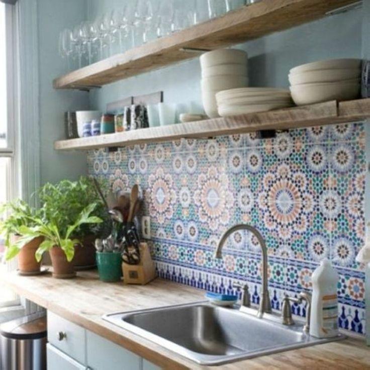 unglaublich 38 DIY Einfache Küche Offene Regale Dekorieren Ideen