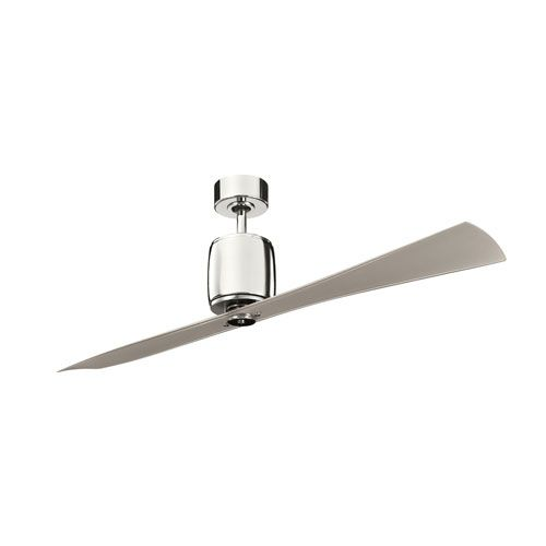 Ferron Polished Nickel 60-Inch Ceiling Fan