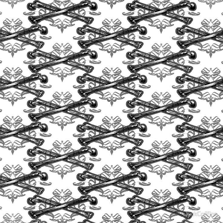 Crossed bones filigree pattern