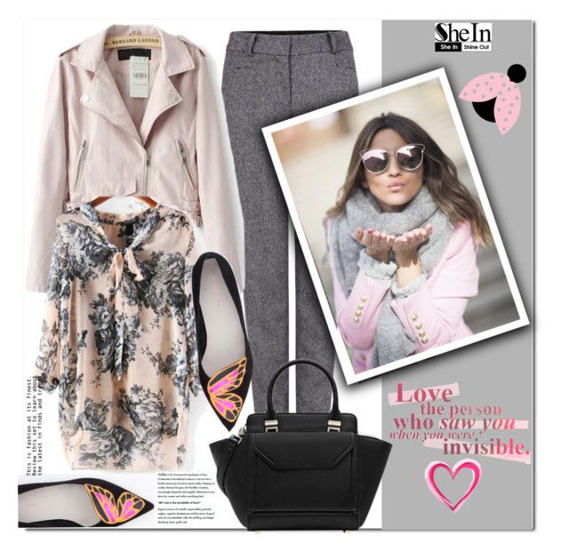 """""""SheIn #10 (VII)"""" by cherry-bh ❤ liked on Polyvore featuring Pink Tartan, Sophia Webster and shein"""