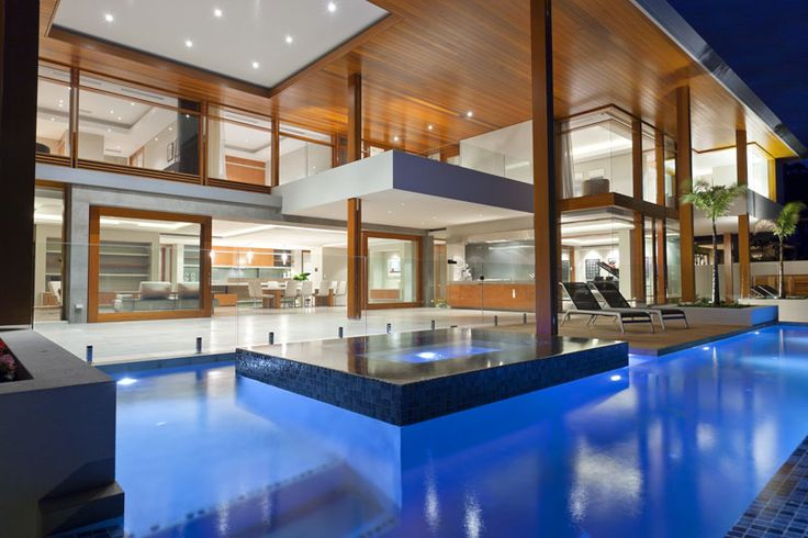 This pool and outdoor living space is PERFECT for entertaining! Blue Stone Pools, Perth, Western Australia