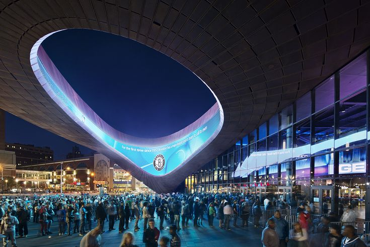 Barclays Center | SHoP Architects; Architect of Record: Ellerbe Beckett/AECOM | Archinect