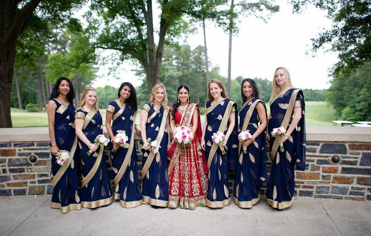 Photo by:Studio.B Love the sarees worn by the...