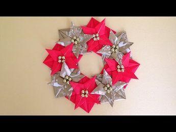 折り紙Origami クリスマス リースChristmas wreathの折り方、作り方 - YouTube