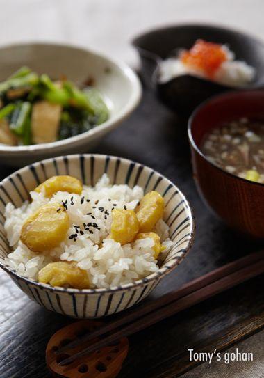 Japanese Chestnut Rice 栗ご飯