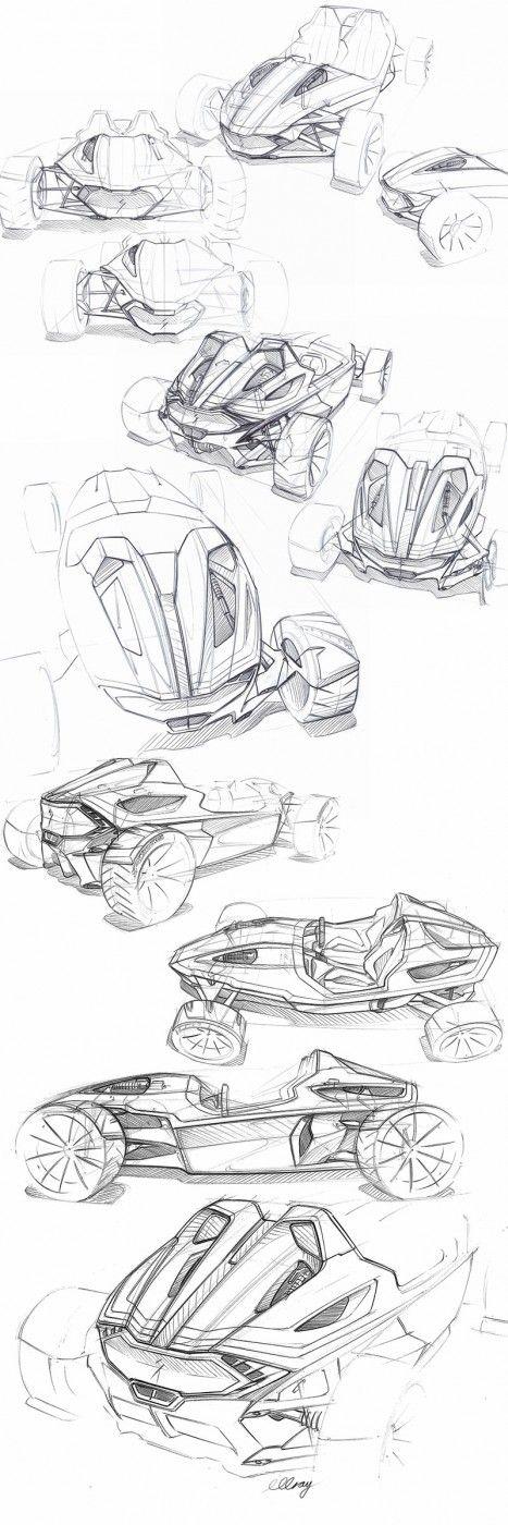 Daily Sketch: Roadster by Michael Gray  gallery:  Michael's work: https://www.behance.net/gallery/Specialized-MR-Roadster/10376727