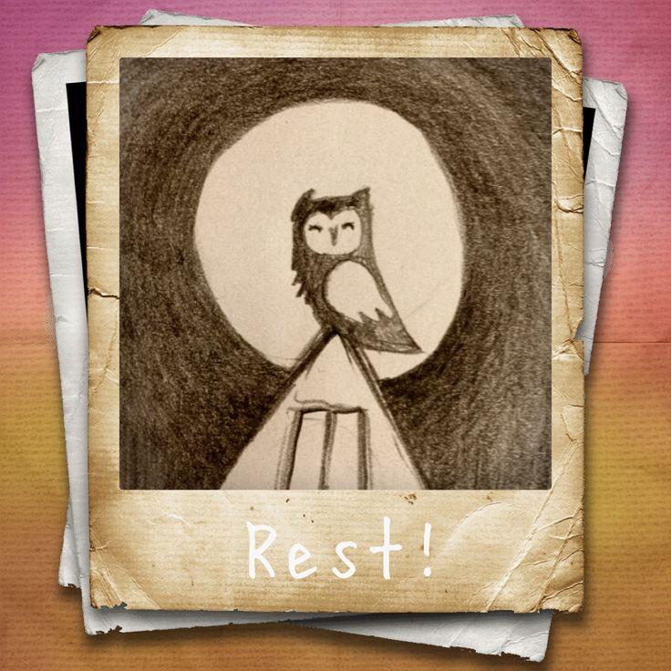 Sketch for my blog 'My Sketch of the day'... Owl in rest! http://www.mysketchoftheday.com