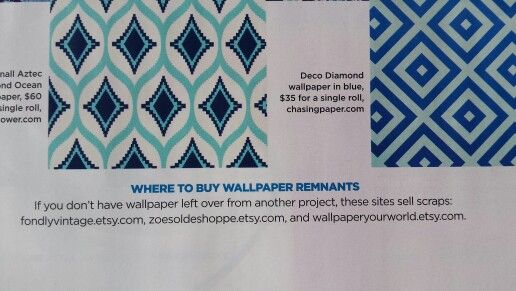 Where to buy wallpaper remnants, would be good for a gallery wall