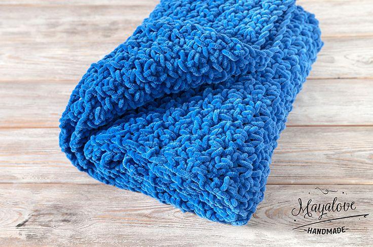 Babydecken - Kocyk pluszowy, niebieski, 75x100 cm - ein Designerstück von Mayalove- bei DaWanda