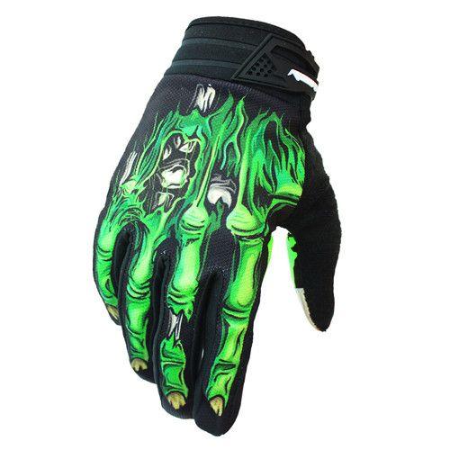 RIGWARL Bone Design Cycling Gloves Full Finger Touch Screen GEL Skeleton Breathable Gloves Motorbike Guantes Moto Luvas