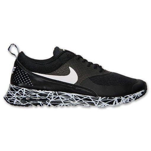 chaussures de running nike air max thea print noir blanc femme vente 2014 france
