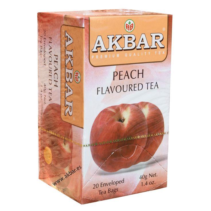 Té negro Akbar con sabor a Durazno
