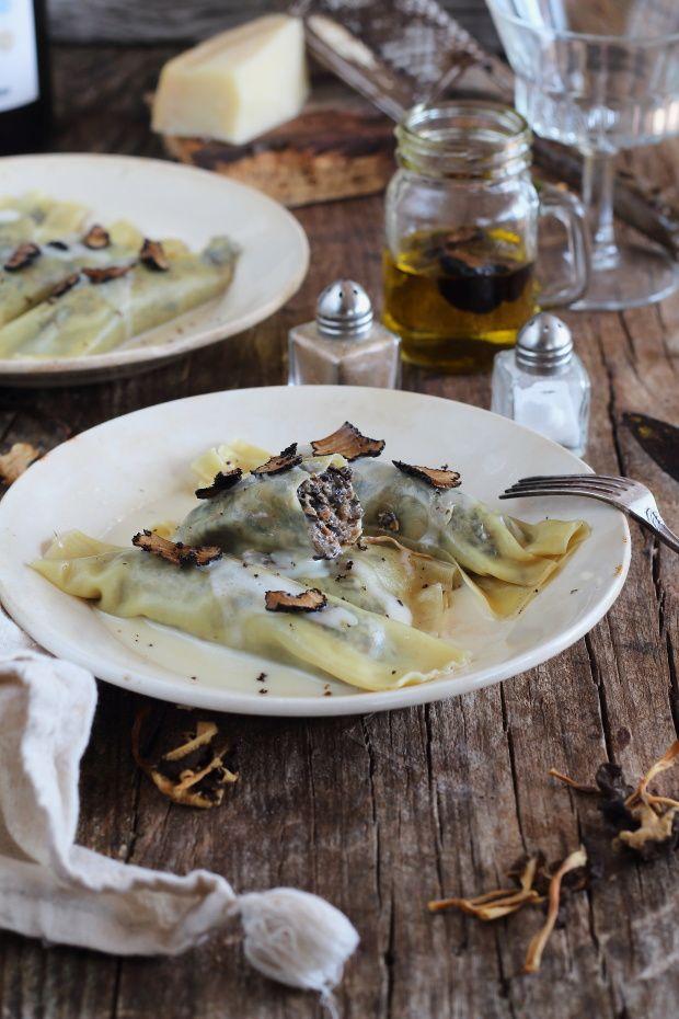 Canelones de setas con crema de parmesano y trufa - Mi Gran Diversión