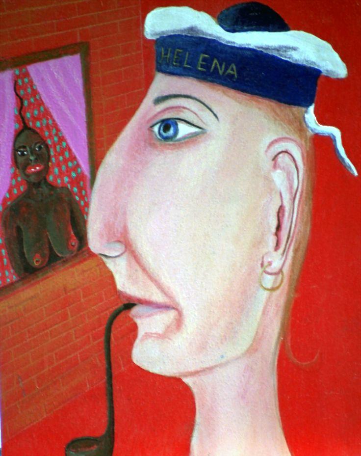 Helena - oil on panel - 21x28cm - ©Henk van Merkom - 1994