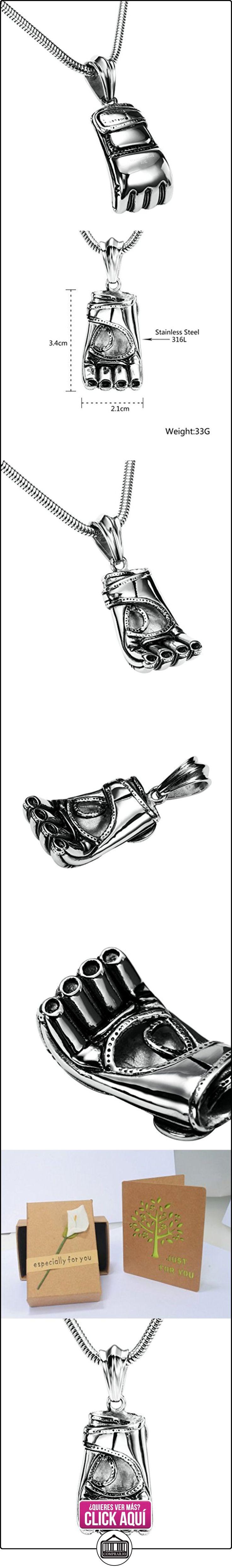 Daesar Joyería Collares de Hombre Acero Inoxidable Baseball Glove Plata Colgantes Vintage 2.1X3.4cm  ✿ Joyas para niños - Regalos ✿ ▬► Ver oferta: https://comprar.io/goto/B01N41YK7V