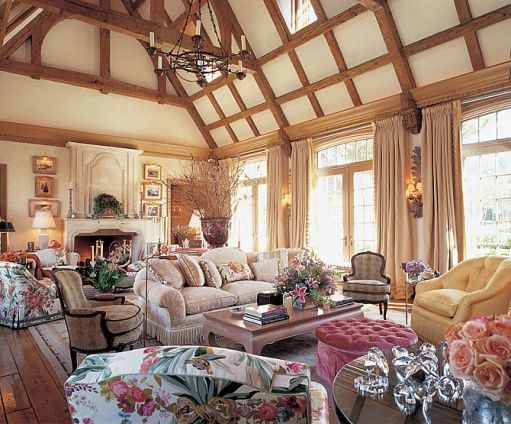 A Buatta English Country Living Room