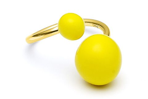 Yellow Bold Gold Ring