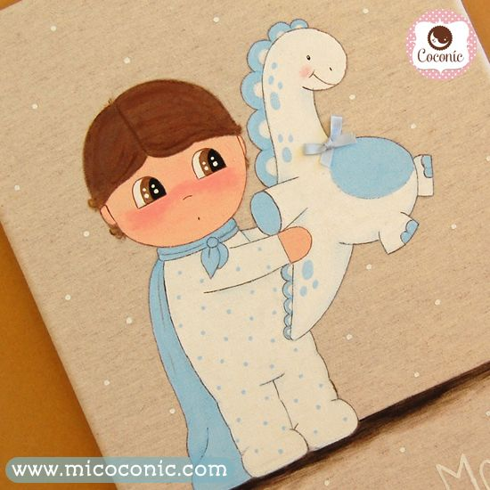 Regalos de nacimiento muy especiales, un lienzo personalizado :) | COCONIC decoración infantil