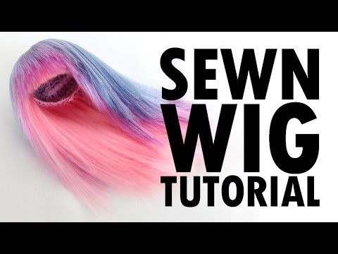 Sewn Doll Wig Tutorial How-To - YouTube