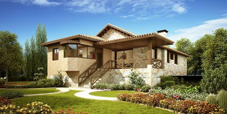 Fachadas de casas en piedra natural