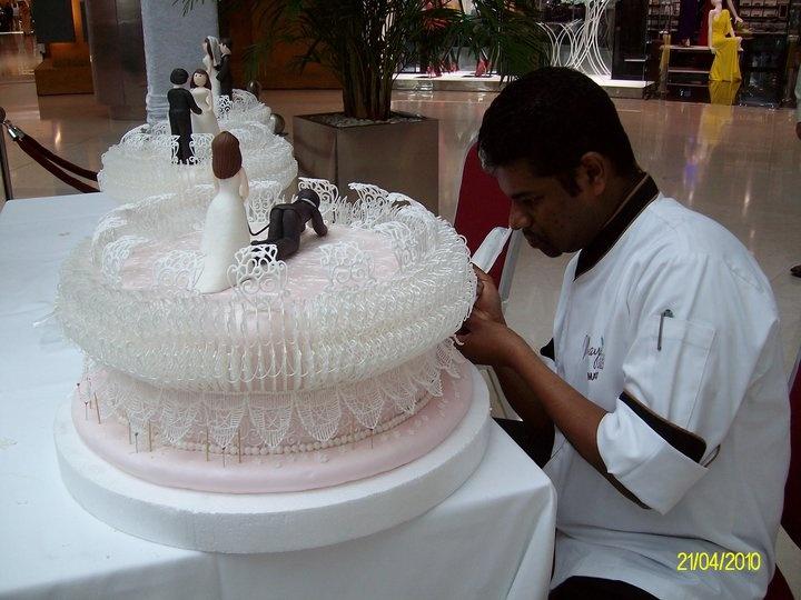 Chef Ruwan Martinesz, Pastry Chef at the Ritz Carlton in Thailand